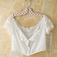 Free People Vintage White Cotton Lace Top
