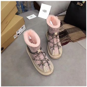 """Ugg ""Snow lacing 	Boots winter Women fashion shoes"