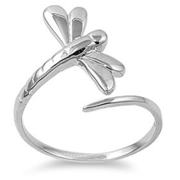 925 Sterling Silver Depth of Character Dragonfly Ring