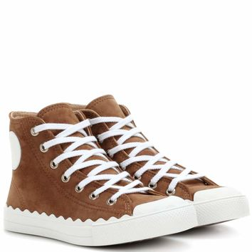 Kyle high-top suede sneakers