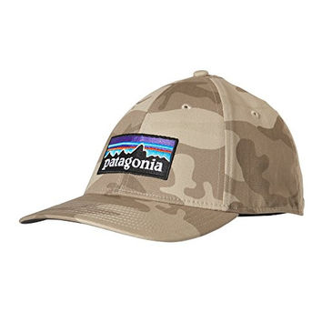 Patagonia P-6 Logo Stretch Fit Hat - Forest Camo, S/M