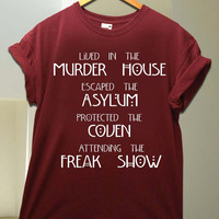American Horror Story Four Seasons for T Shirt unisex adult