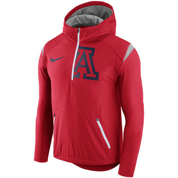 Men's Nike Red Arizona Wildcats 2017 Sideline Fly Rush Half-Zip Jacket