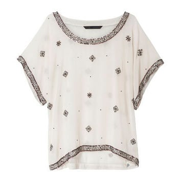 BEADED TUNIC - Tops - Woman - ZARA United States