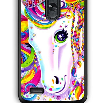 LG G3 Case - Hard (PC) Cover with Lisa Frank Majesty The Rainbow Horse Plastic Case Design