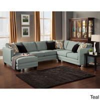 'Zeal Lavish' Contemporary 3-piece Fabric Upholstered Sectional