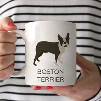 Boston Terrier Coffee Mug - Boston Terrier Ceramic Mug  - Dog Mug - Gift for Coffee Lovers - Boston Terrier Lover Gift - Boston gift
