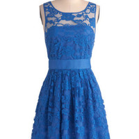 BB Dakota When the Night Comes Dress in Blue | Mod Retro Vintage Dresses | ModCloth.com