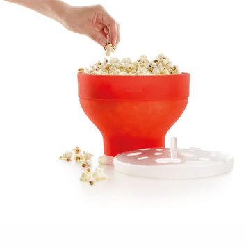 New Microwaveable Popcorn Maker Silicone Pop Corn Bowl Microwave Popcorn Bucket With Lid Kitchen Baking Tools