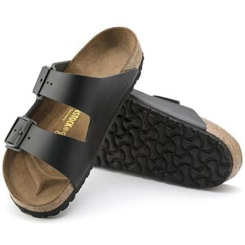Sale Birkenstock Arizona Natural Leather Black 0051191/0051193 Sandals