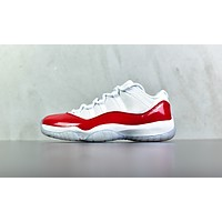 "AIR JORDAN 11 LOW ""VARSITY RED"""