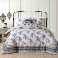 Jessica Simpson Gemma Comforter Set in Blue