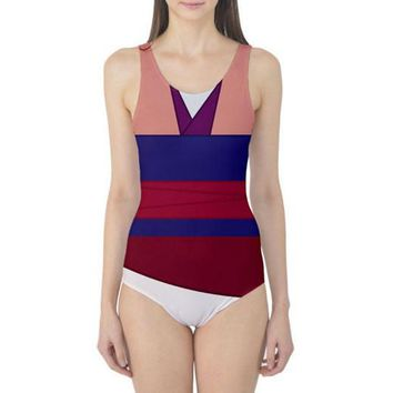 Mulan Inspired One Piece Swimsuit