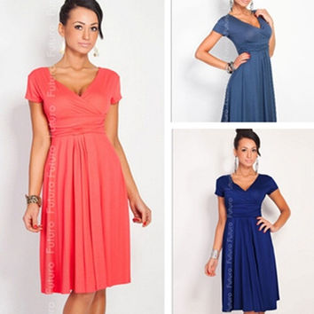 Women Fashion Evening pregnant pregnancy Party office maternity dress = 1945900292