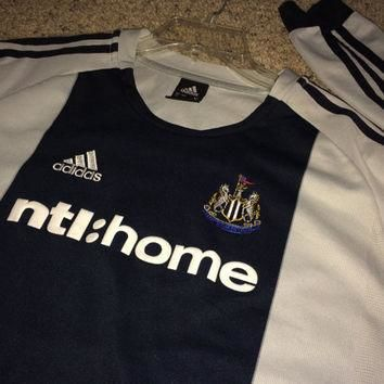 Sale!! Vintage Adidas Newcastle United long sleeve soccer jersey England Retro Footbal