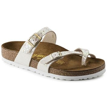 Hot Sale Mayari Birkenstock Summer Fashion Leather Sandals For Women Men color Shiny S