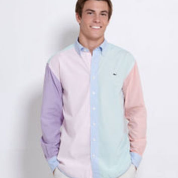Men's Sport Shirts: Multi-Colored Gingham Men's Shirt -Whale Collection– Vineyard Vines