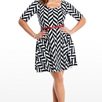 Plus Size Contrast Line Dress | Fashion To Figure