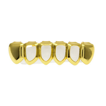 Open Face Bottom Gold Grill