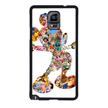mickey mouse silhouette samsung galaxy note 4 note 3 2 cases