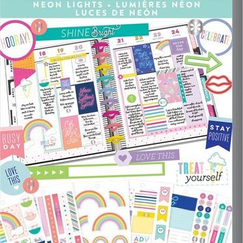 Happy Planner Value Pack Stickers - Neon Lights