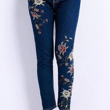 Faye Floral Skinny Jeans