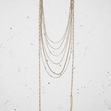 Tooth Pendant Layered Necklace