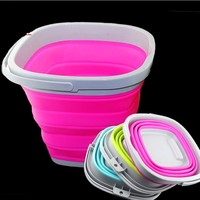 5L 10L Fishing Lure Plate Play Thickening Folding Water Bucket EVA Super Soft Silica Gel Retractable Portable Fishing Bucket