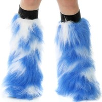 Camo Blue and White Fluffy GoGos : Fluffies from RaveReady