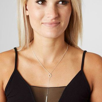 BKE Dainty Glitz Y-Necklace - Women's Accessories in Antique Silver | Buckle