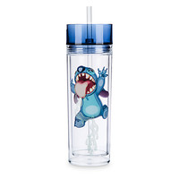 Stitch Bottle Tumbler with Straw