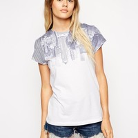 ASOS T-shirt with Upside Down City Scene Print