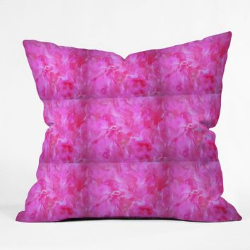 Brian Wall Fine Art Pink Marble Pattern Throw Pillow