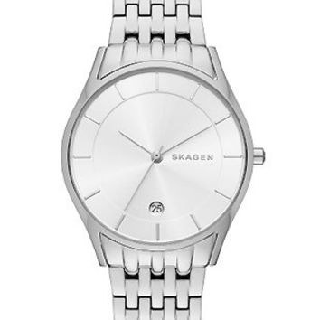 Skagen Womens Holst Date Watch - Stainless Steel - Date - Link Bracelet