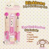 San-X Rilakkuma 5 in 1 Stationery Set