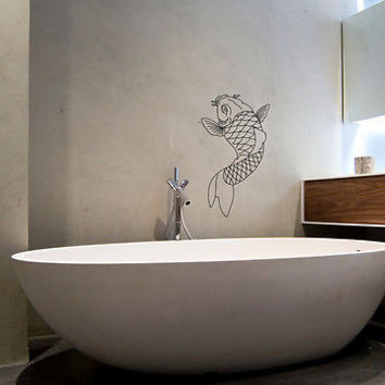 Wall Mural Vinyl Sticker Decal   GOLDEN FISH FLAKES SEA  DA980