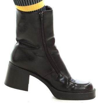 Vintage 90's Chachi Code Chunky Boots - US 10