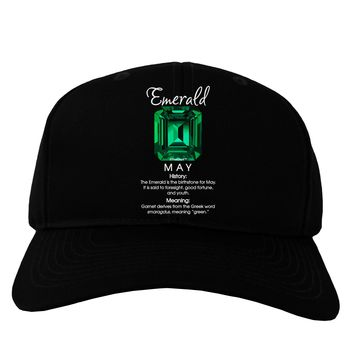 Birthstone Emerald Adult Dark Baseball Cap Hat