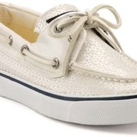 Sperry Top-Sider Bahama Sequin 2-Eye Boat Shoe WhiteSequins, Size 11M  Women's Shoes
