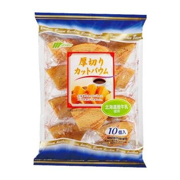 Japanese Baumkuchen Bites, Individually Wrapped, 10 pcs, 9.5 oz (270 g)