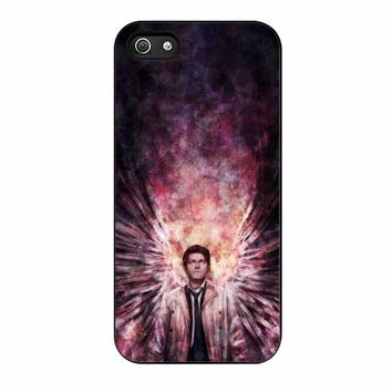 supernatural castiel galaxy cases for iphone se 5 5s 5c 4 4s 6 6s plus