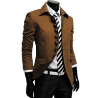 737 THELEES Mens Luxury UNIQUE Style Slim fit 8 Button Front Blazer Jacket