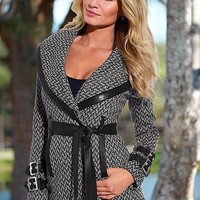 %PC% Wrap belted coat, cami from VENUS