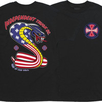 Independent USA Cobra Tee Small Black