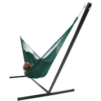 Sunnydaze Decor Green Family Mayan Hammock with Stand