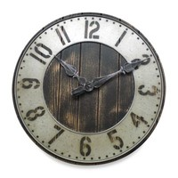Rustic Punched Metal Wall Clock