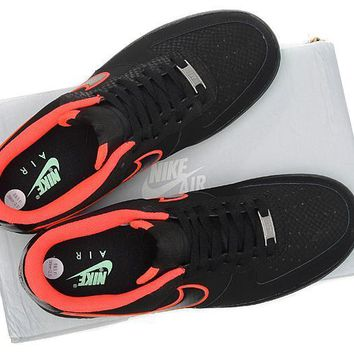 PEAPON Nike Air Force 1  488298 048 Black Red For Women Men Running Sport Casual Shoes Sneakers