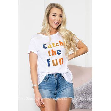Catch The Fun Heather Print Top