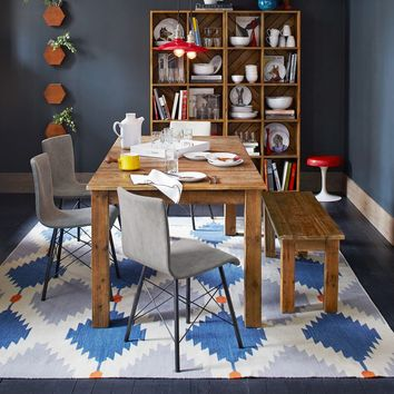Phoenix Wool Dhurrie Rug - Regal Blue