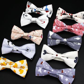 Vintage Animal Print Bow Tie